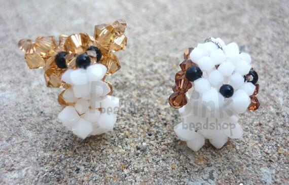 Swarovski crystal shih tzu and Welsh corgi pembrok, little puppy,for phone charm,keychain,zipper,decorations (individually sold)
