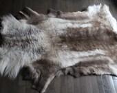 Scandinavian Reindeer Hide Throw Rug