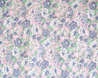 Cotton Blend Fabric in Floral Design Print.