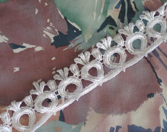 "Venice Lace Embroidery Trim In White Color 13/4"" Wide."