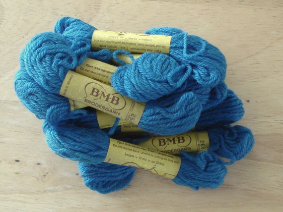BMB Norwegian Tapestry Wool 12 Skeins Dusty Blue Color 268.