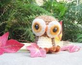 Crochet Owl Amigurumi Doll Brown