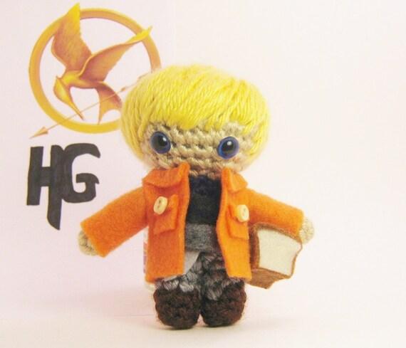 Hunger Games Peeta Mellark Crochet Amigurumi Doll