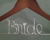 Bride Wedding Hanger - Personalized Custom Wire Wooden Wedding Hanger