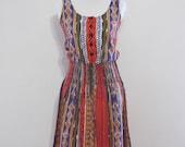 Vintage Bold Southwest Tribal Dress