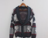 Vintage Southwest // Navajo Slouchy Cardigan Sweater