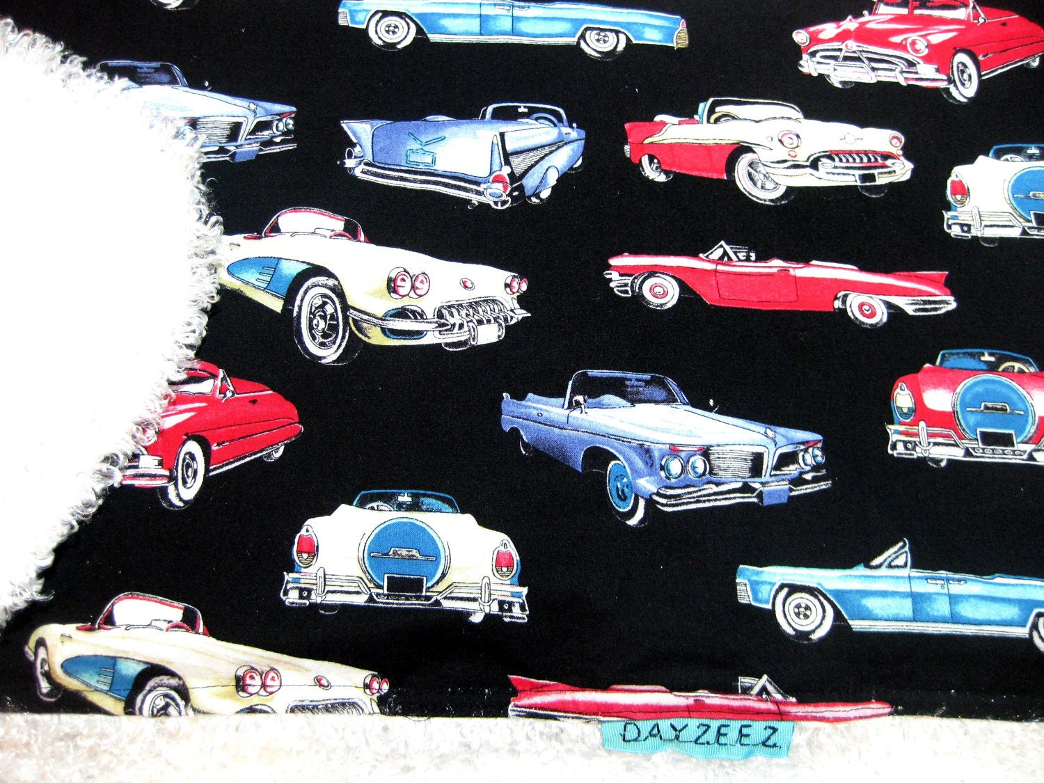 Girl Baby Kids Boy Retro Classic Vintage Cars Bedding Crib