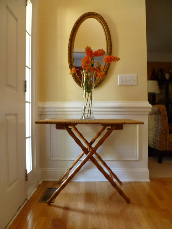Butlers Table Mid Century Wicker Heirloom Quality