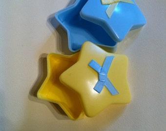 Star Shaped Plastic Trinket Box