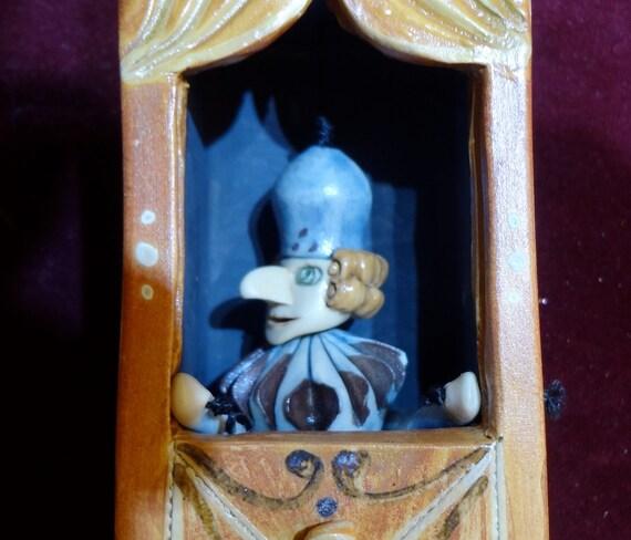 Ceramic Doll Italian Puppet Theater