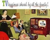Cross Stitch Pattern - Funny Retro TV Ad -  pdf -  Instant Digital Download -SALE