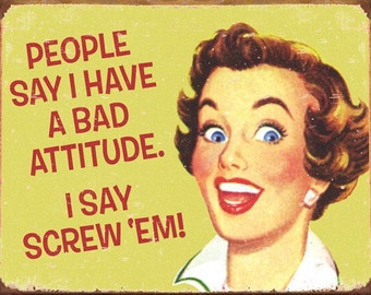 Cross Stitch Pattern - Funny Bad Attitude - PDF - Instant Digital Download
