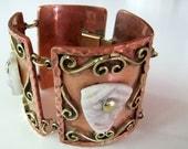 Vintage Mexican Copper Tribal Bracelet