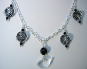 SWAROVSKI CRYSTAL Drops on Sterling Silver CHAIN Necklace