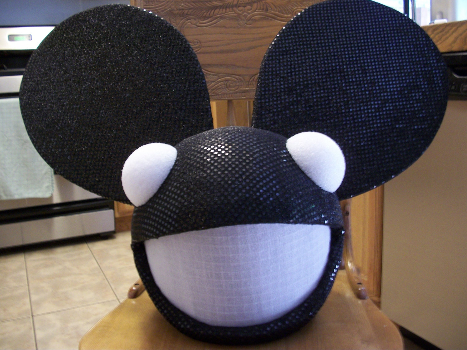 replica deadmau5 mouse head costume led flashing lights shiney - Deadmau5 Halloween Head