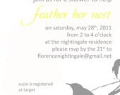 Feather Her Nest Printable Baby Shower Invitation and Game