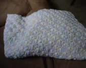 Crochet Baby Afghan, Unisex, Light Pastel Colors- SALE