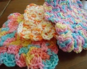 Colorful Crochet Face Scrubbies In Rainbow Colors- SALE