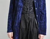 CLEARANCE: Vintage 90s Striped Crushed Velvet Cardigan