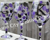 Baltimore Ravens Personalized Wine Glass 20oz Super Bowl Bachelorette