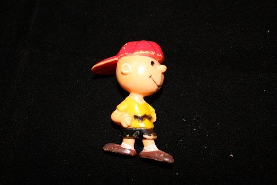 Vintage 1970s 1980s Charlie Brown Peanuts Baseball On the Mound Figurine