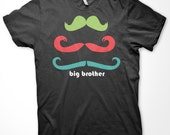 the big brother MUSTACHE tee
