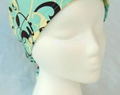 Teal Swirl Surgical Cap