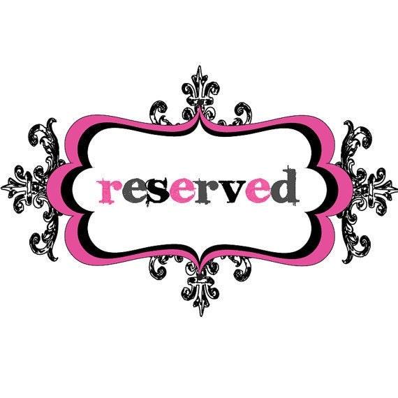 Reserved - Custom listing for Christina