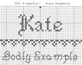 Custom Designed Cross Stitch - Kate  with Bible Meaning of Godly Example .pdf