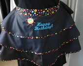 Happy Birthday Cocktail Apron w/ Sunshine Ruffle perfect hostess gift