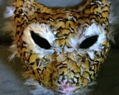 kinda freaky handmade feather cat mask (In time for Halloween)