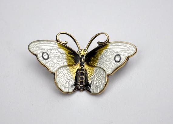 Rare Hroar Prydz Norway Enamel Butterfly Scandinavian Pin