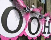 Lingerie Shower Banner - Bridal Shower - Pink and Zebra - Ooh-la-la