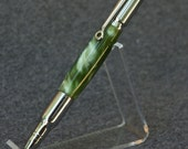 Emerald Silk 30 Caliber Bullet Twist Pen with Chrome Accents