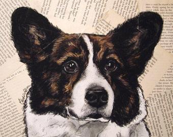 Cardigan Welsh Corgi Original Painting