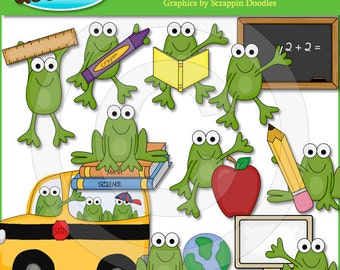Froggy Goes To School Clip Art