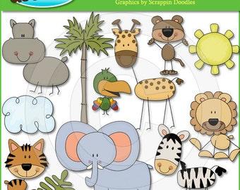 Stick Jungle Critters Clip Art