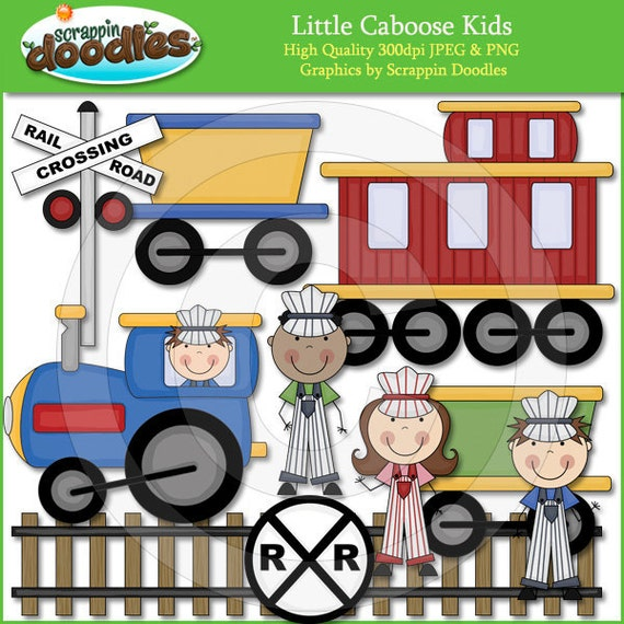 Little Caboose Kids Clip Art by ScrappinDoodles on Etsy
