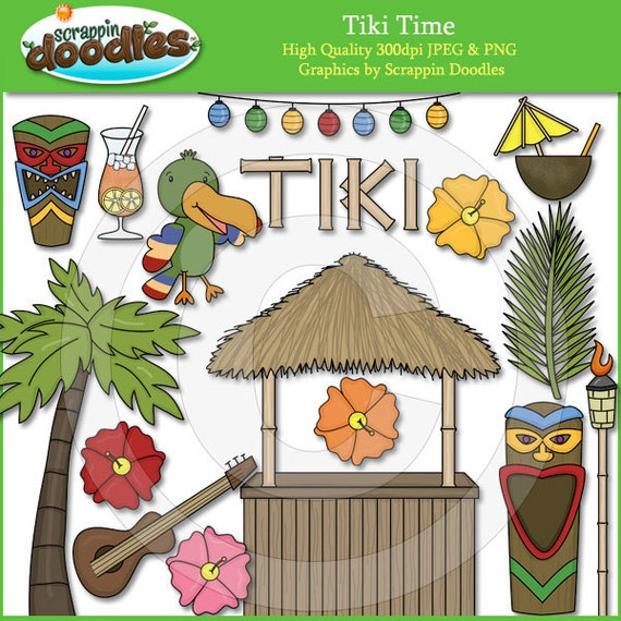 Tiki Time Clip Art