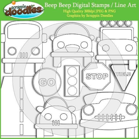 Beep Beep Digital Stamps