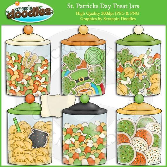 St Patricks Day Treats Jar Clip Art