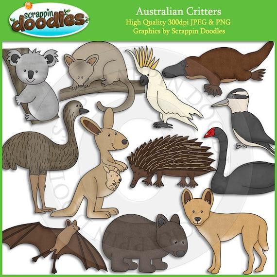Australian critters clip art