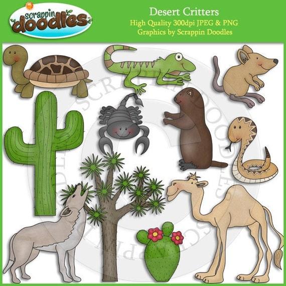 Desert Critters Clip Art