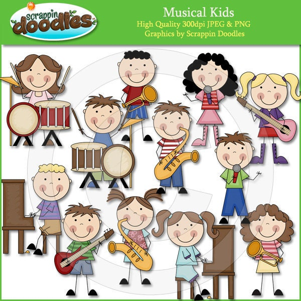 Musical Kids Clip Art