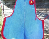 Recycled Denim Jeans Full Apron,Clothing,Housewares