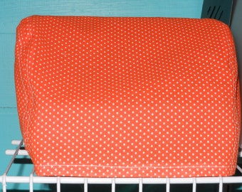 Orange and White Dotted Xyron 500 Sticker Maker Machine Dust Cover