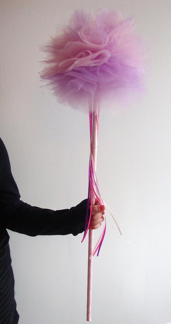 how to make a fairy wand with tulle