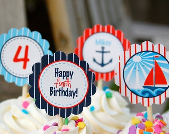 Nautical Cupcake Toppers/Tags