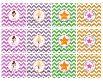 Gymnastics Toppers/Party Circles- Printable
