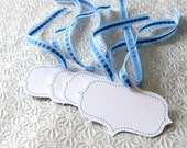 Set of 25 Hand Cut Blue Gift Tags for Any Occasion